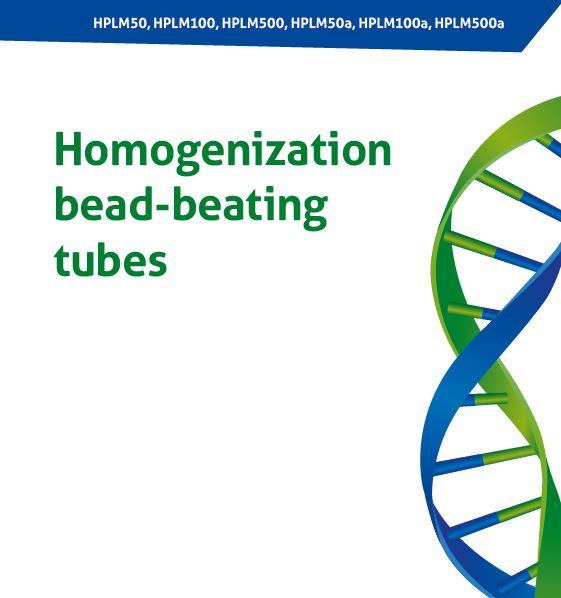 Probówki z kulkami do homogenizacji